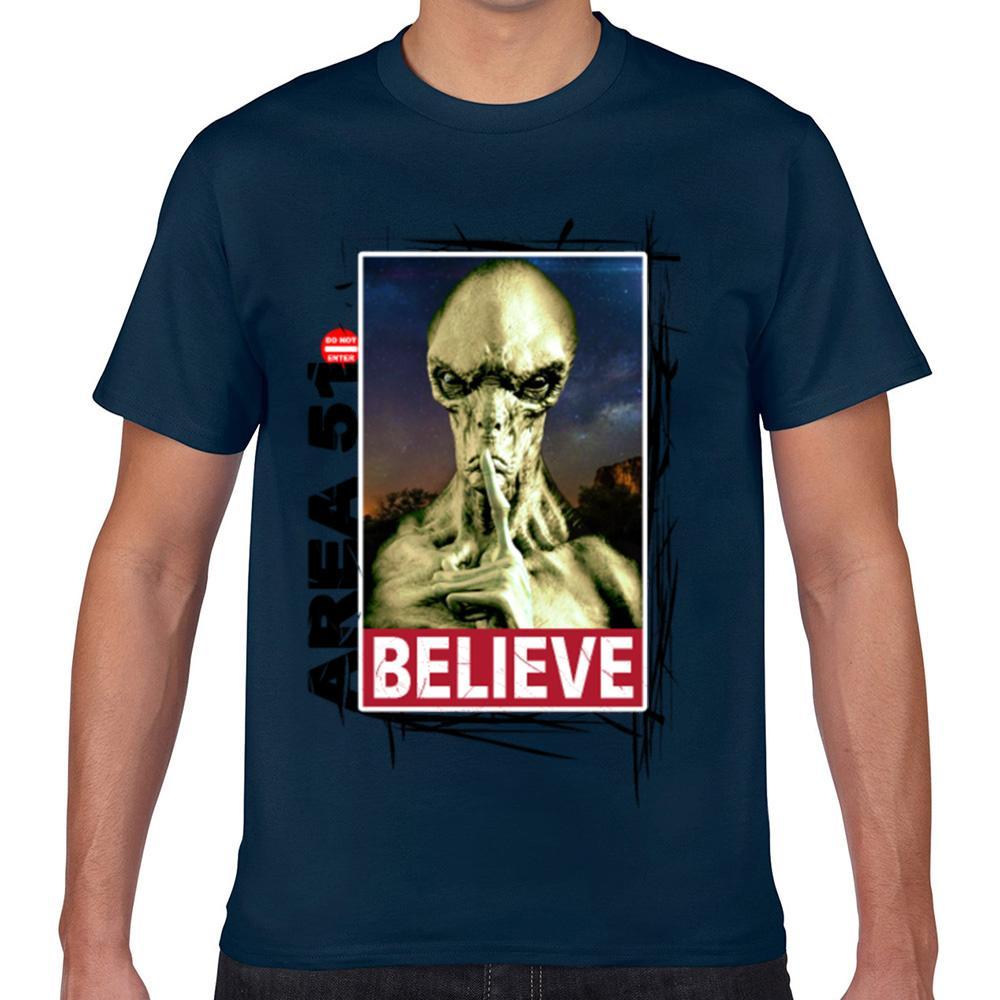 Tops T-Shirt Männer-Bereich 51 I Alien Sammlung 008a Kawaii Inschriften Aussenseiter Drucken Male Tshirt Xxx Glauben