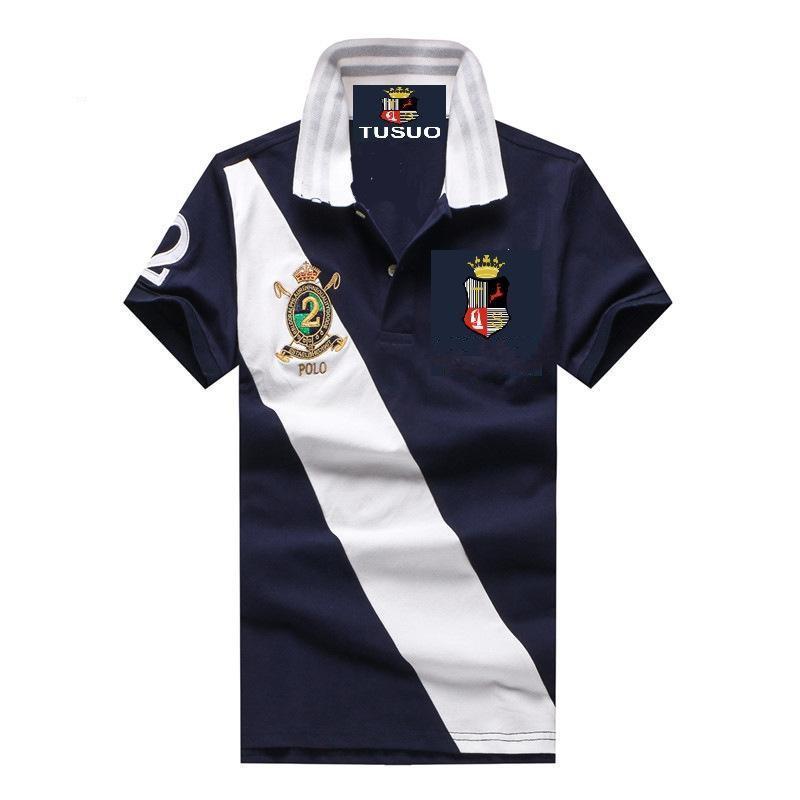 2018 nouvelle couronne à trois couleurs classique à manches courtes T-shirt 100% coton T-shirt Polo T-shirt hommes Polo