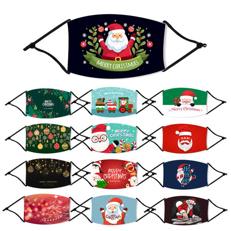 Azionamento degli Stati Uniti! Maschera dei cartoni animati Stampa Adulti Adulti Maschere per la bocca di seta Ice Maschere antipolvere Respirazione PM2.5 Maschera per la maschera per la maschera di Natale Maschere di Natale FY4224