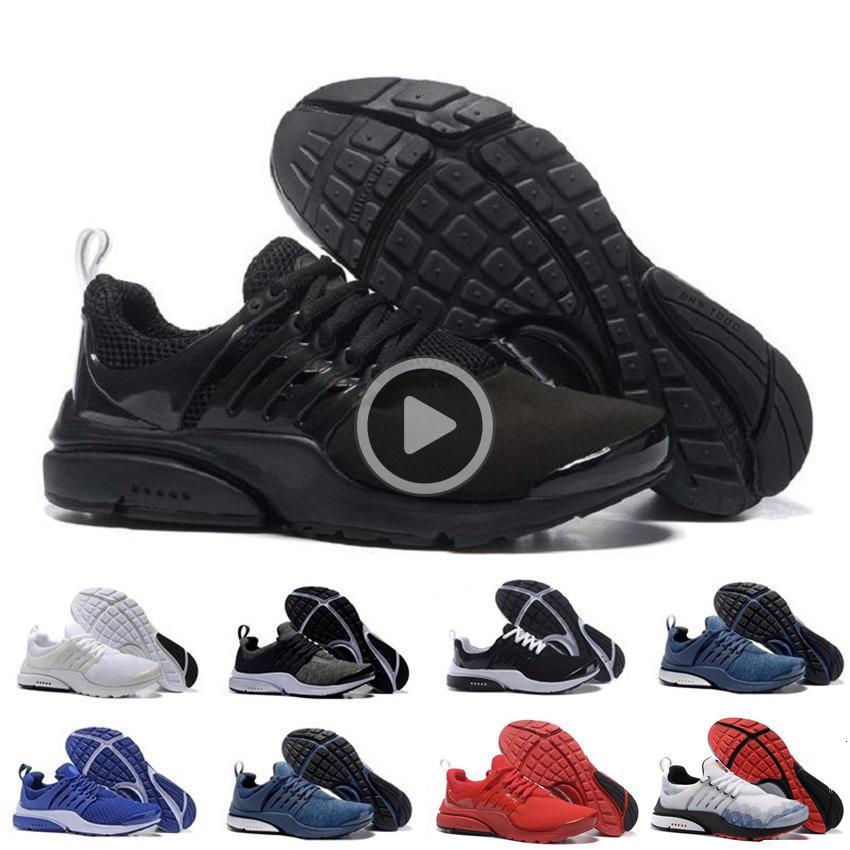 BR QS presto gros Respirez toutes les chaussures Hommes Blanc Noir Chaussures Femmes Hommes Chaussures de sport, concepteur Walking 36-45 D9Y3