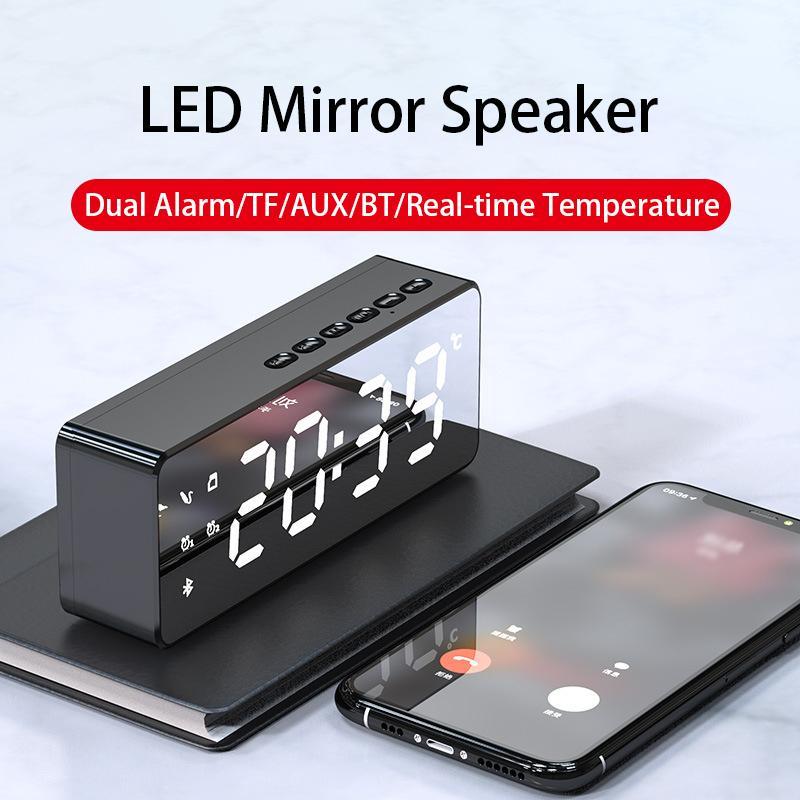 LED Sound Bar Sveglia AUX Wired senza fili Bluetooth Speaker Home Theater Surround SoundBar per i telefoni altoparlante del PC Computer