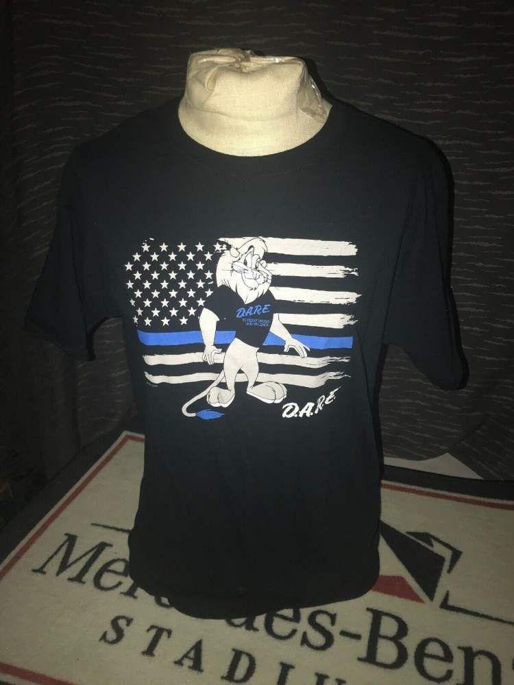 Dare-T-Shirt Größe M unisex mens Frauen Schwarz