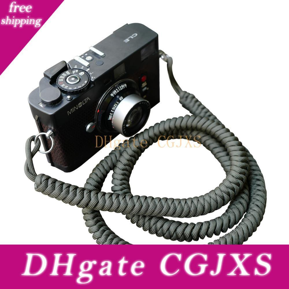 1 Meter Camera Strap Paracord 550lb Parachute Cord Vintage Shoulder Neck Strap Belt for Canon Nikon Sony Olympus SLR DSLR