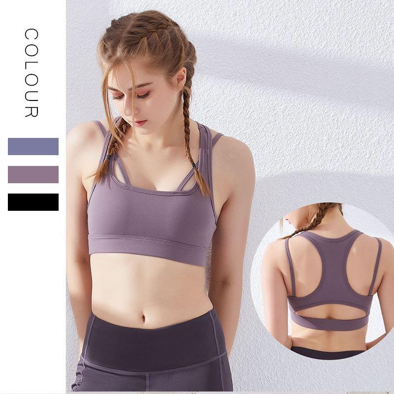 Spor İç dirençli Seksi U Arka Hollow-out Yoga Vest Olmayan Çelik Yüzük İnce Fitness Şınav Çekme Sütyen / 30 Running Womens