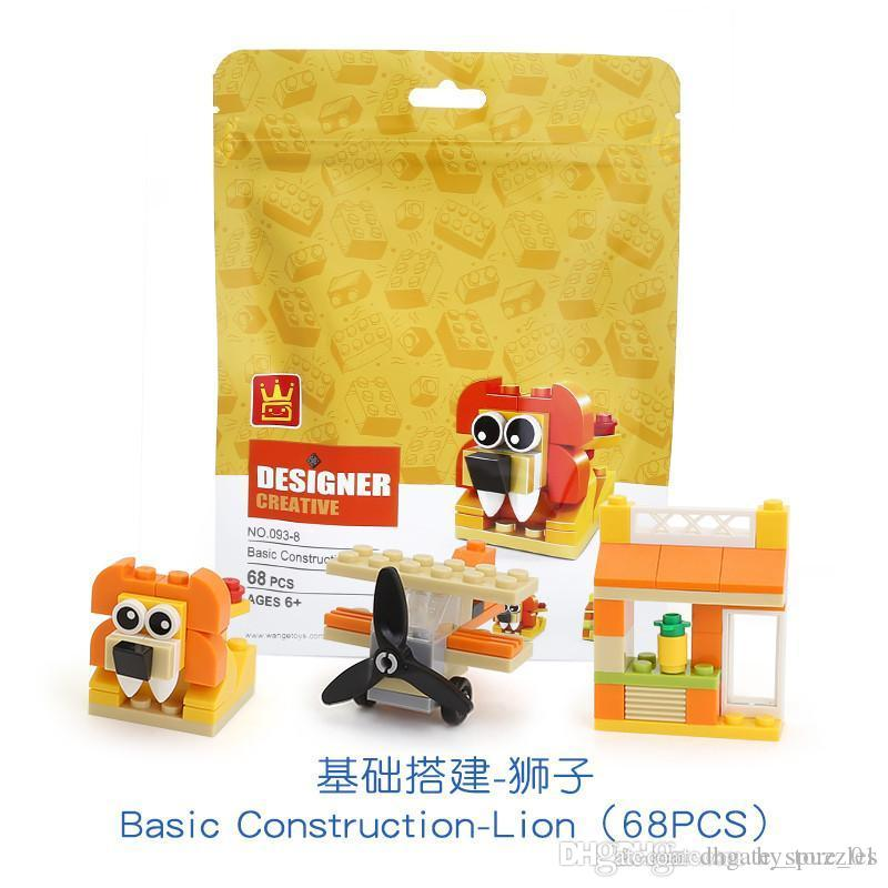 children Building block toy 4 style suit baby Souptoys Early education Parent child toys granule Building toys with building blocks toys