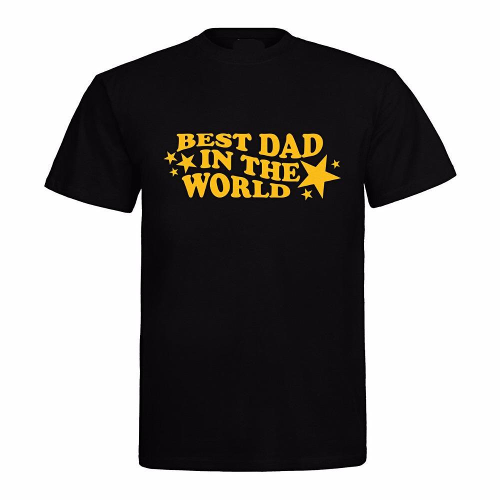 Новый 2019 хлопка с коротким рукавом лето Mens печати T-Shirt Vatertag Geburtstag Geschenk Лучший папа в World Movie тенниска