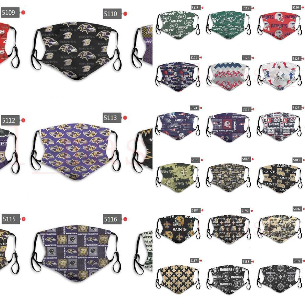 DHL Designer Maske Team Fußball Rugby Designer Gesicht wiederverwendbare Staubmasken Fabrikpreise können Maske m QSBM sein