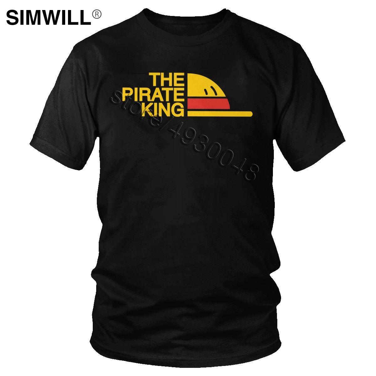 Camisa del verano nuevo algodón de la llegada de una pieza de la camiseta de manga corta Manga El rey de los piratas camiseta gráfica T Dropshipping animado