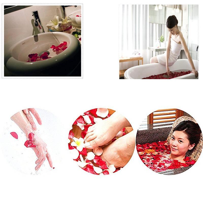 Wedding Day 50Pcs / Set Sabão Flores Scented Bath Pétala Corpo Bath Rose Soap Cabeça de Flor Valentines Decoração O melhor presente