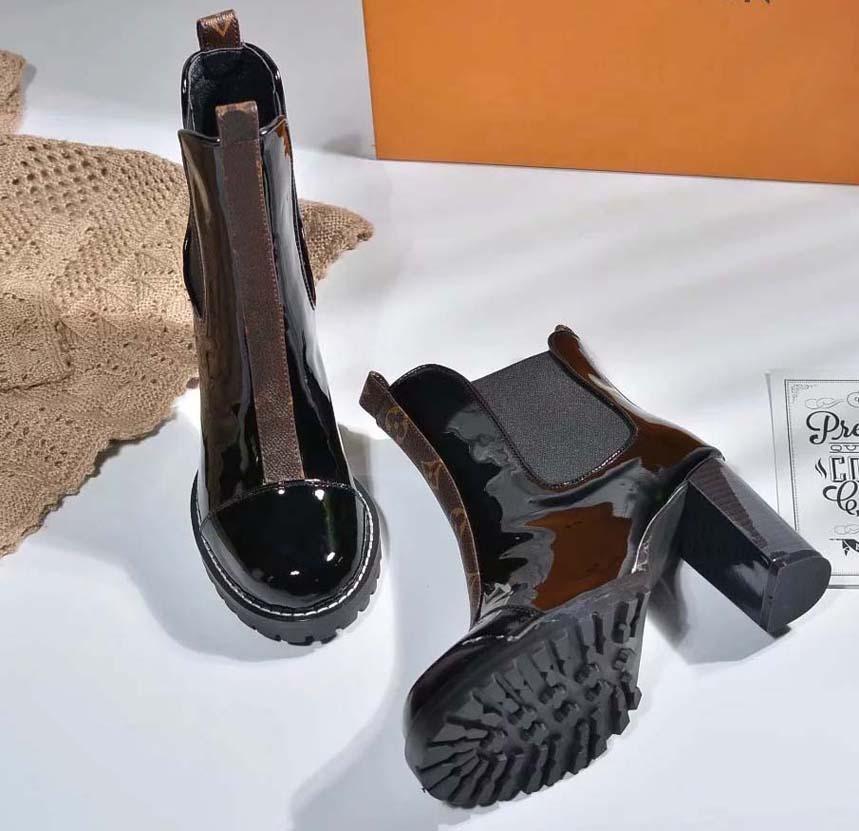 Talones de las obras clásicas botas de moda y exquisito para mujer botas altas y genuino aire libre de cuero botas de moda Martin sh09 L16
