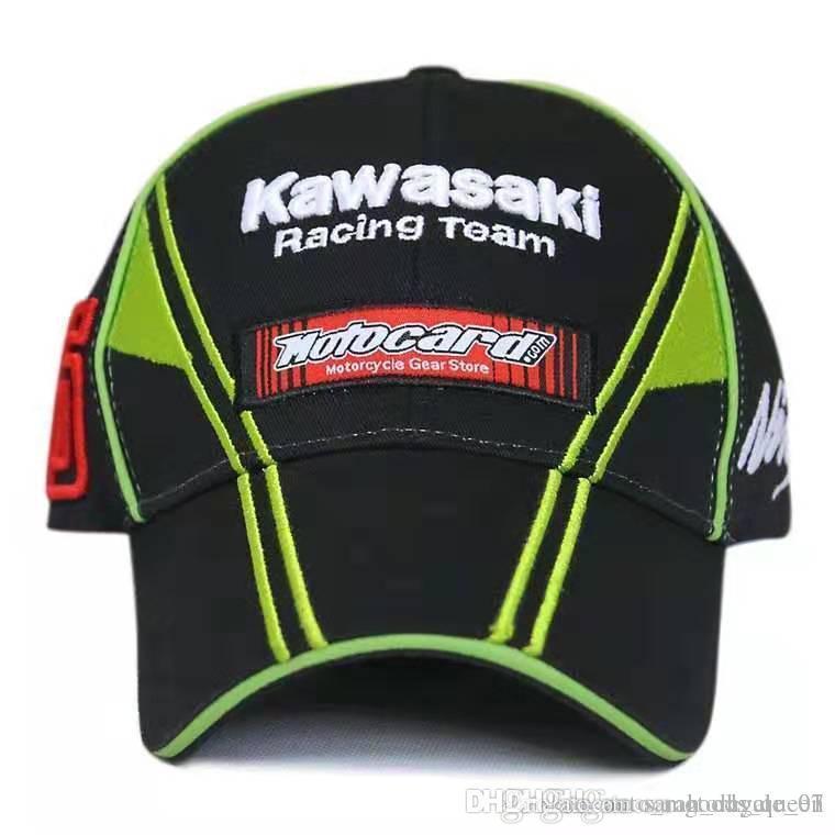 Vendita calda country moto Baseball Cap Cap Corse Con lingua d'anatra Oblique Parkour Cap Green doppio verticale K-W-S-K