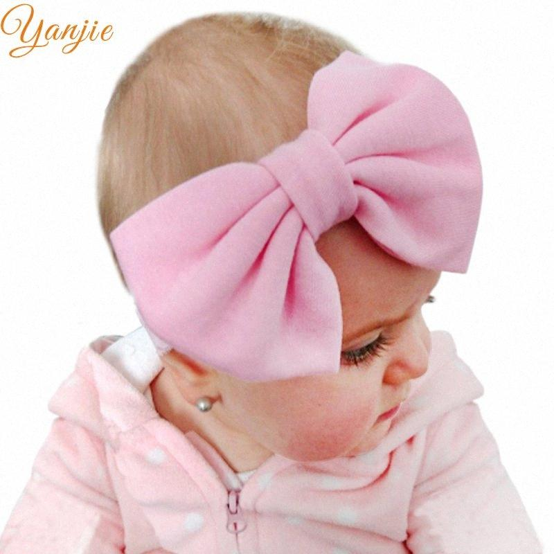 Trendy 5Cotton Hair Bows Lace Headband Kids Girls Solid Elastic Party DIY Headwear For Kids Bandeau Hair Accessories Baby Hair Accesso 58Rv#