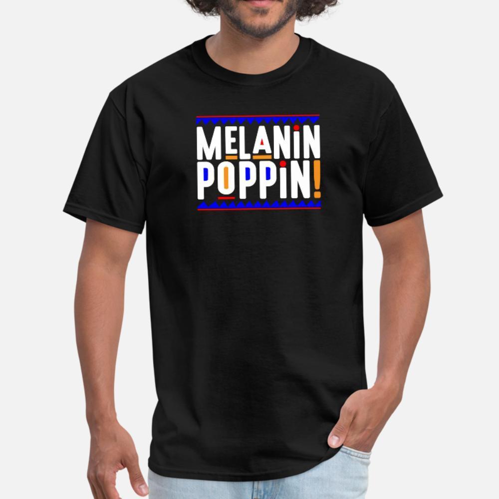 La melanina Poppin colorido hombres de la camiseta Diseño de 100% algodón tamaño S-3XL del ocio loco transpirable verano Camisa formal