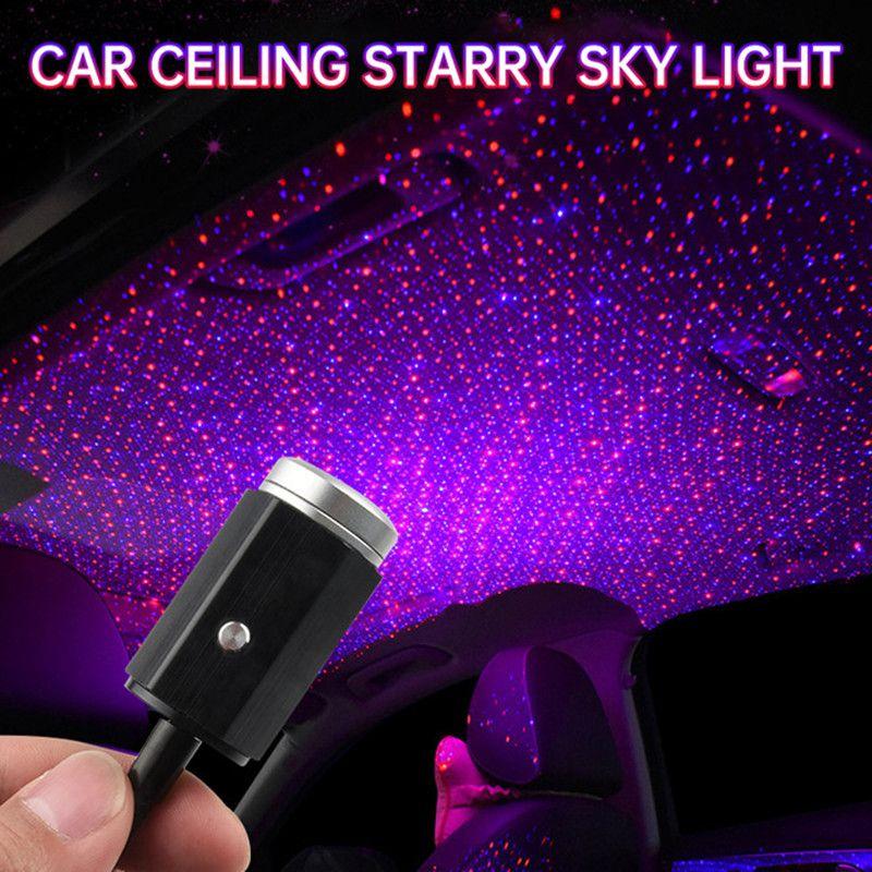 Led Voiture Toit Star Night Lumière Projecteur Usb Intérieur Starry Laser Multiple éclairage atmosphère ambiante Lumières Auto lampe Galaxy