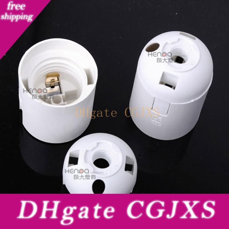 E27 lampe blanche Porte base lisse lampe en plastique Base de Inline Vis Adaptateur Lumière pour Lampe de table Lustre Lumière