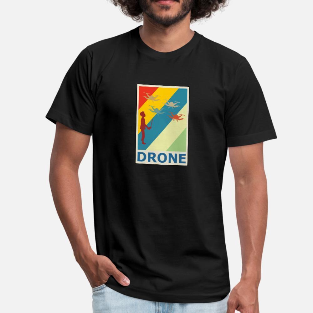 Retro Vintage Entwicklung Quadcopter Quadrocopter T-Shirt Männer besonders angefertigt T-Shirt-Größe S-3XL Freizeit Anti-Falten-Humor-Sommer-Art Shirt
