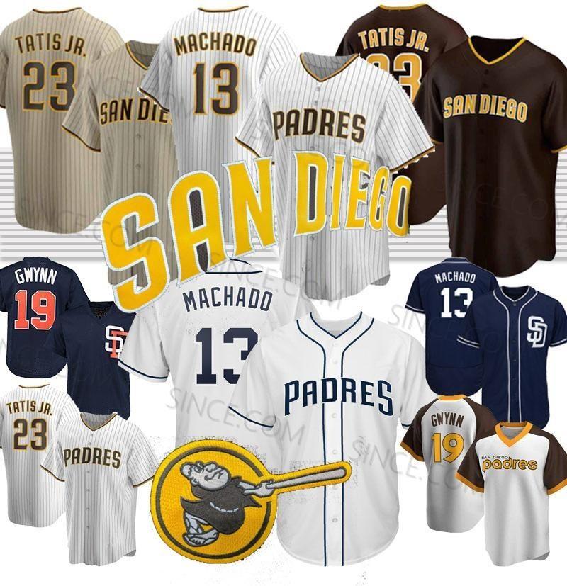 San Diego Fernando Tatis Jr Jersey Manny Machado 13 Tony Gwynn 19 Eric Hosmer Brown Is Back 2020 Season Jerseys Custom Stitched Top Quality