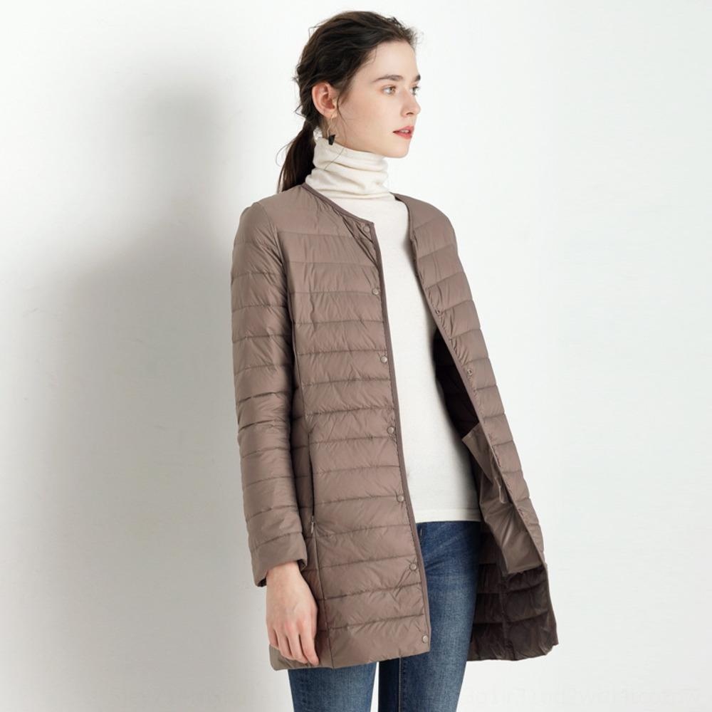 astar aşağı beyaz ördek ceket Kadın Orta uzunlukta özel fiyat Kore tarzı ince V yakalı aşağı Ölü sezon ince yuvarlak boyun ceket