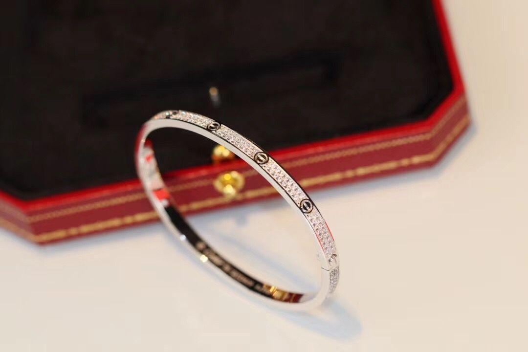qualidade de luxo estreitar uma pulseira do punk com diamante para mulheres casamento jóias dom PS4793 transporte livre
