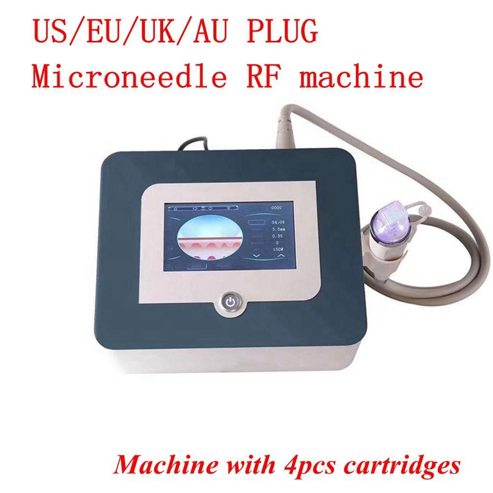 2020 Yeni Tasarım 4 ipucu Fraksiyonel RF yüz ve vücut streç işareti akne kaldırma cilt gençleştirme RF Makine CE DHL hızlı sevkiyat, mikro iğne