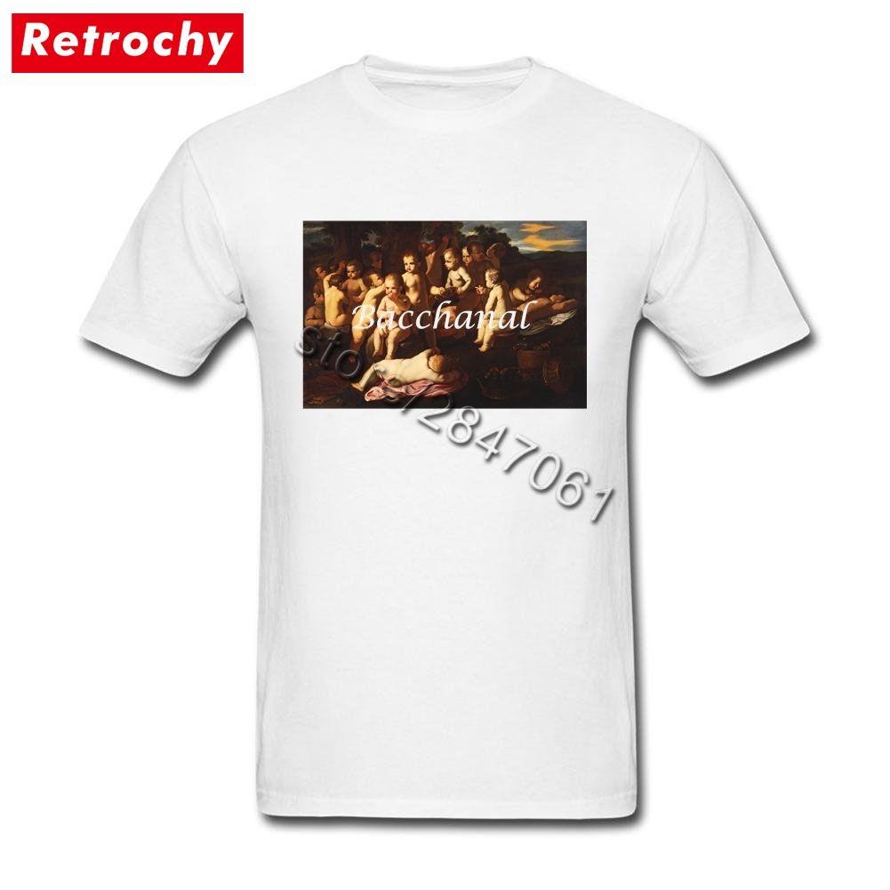 Putti Tee Gömlek Erkekler Tasarımcı Kısa Kollu T Shirt Genç Guy Tee Oversize Giyim Of 90'lar Retro Benzersiz Bacchanal