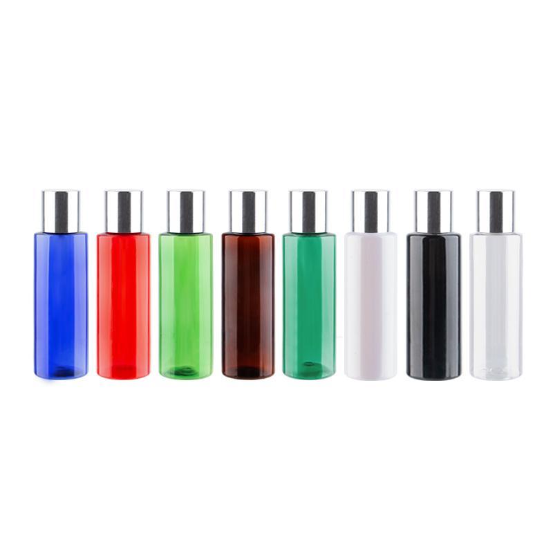 120мл X 12 пластмассы алюминиевого винта Крышка Cosmteic Контейнеры с пробкой 120cc Пустой Цветной бутылки шампуня для путешествий Упаковки