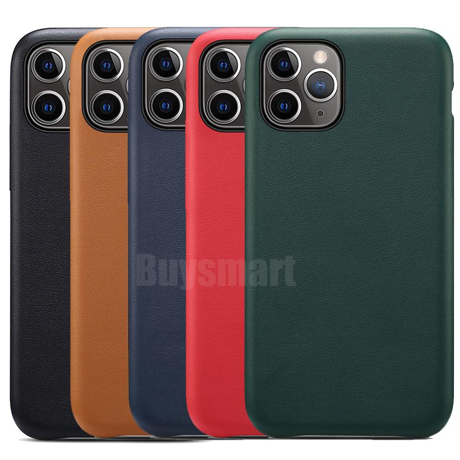 Original Official Case For Apple iPhone 12 Mini 11 Pro Max XS XR X 8 7 6 6S Plus SE 5 5S Cover Have LOGO PU Leather Phone Case Matte Frosted