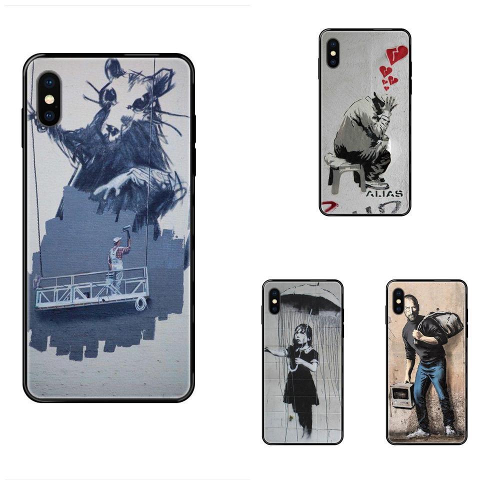For iPhone SE2020 11 12 Plus Pro X XS Max XR 8 7 6S SE 5 5C 5S Soft TPU Protective Skin Lovesick Banksy