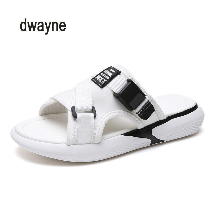 Terlik kadın yaz kelime sürükle 2020 yeni düz kaymayan ayakkabılar moda hafif rahat sandaletler kalın tabana vurma ve slippers35-40
