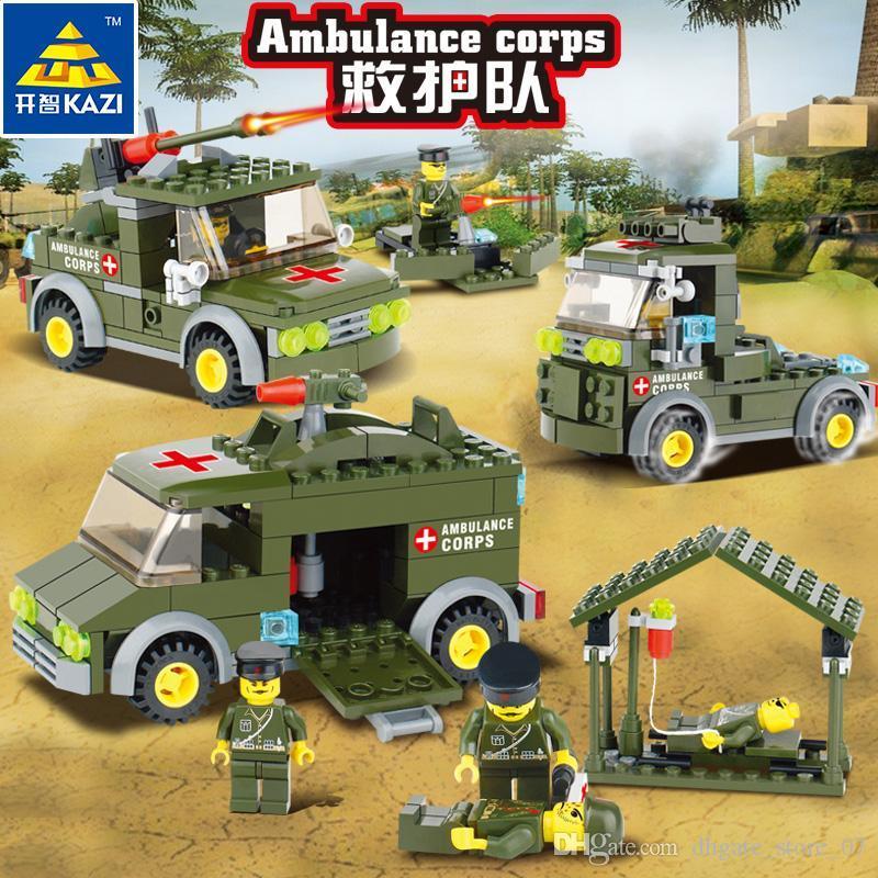 Les enfants des blocs de construction jouets corps ambulancier casse-tête assembler bloc de jouets de haute qualité à la fois garçon et une fille