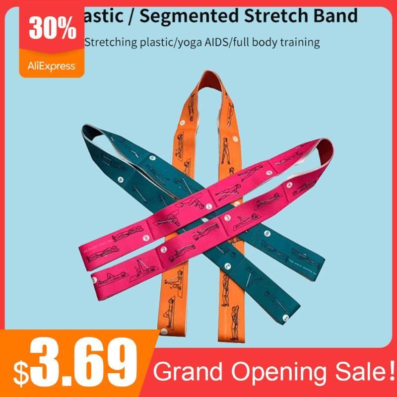 Nylon Elastic Yoga Stretch Strap Latex Latin Dance Band Split Stretching Tenacity Training Fitness-Tool Home Gym Fitness-Bänder