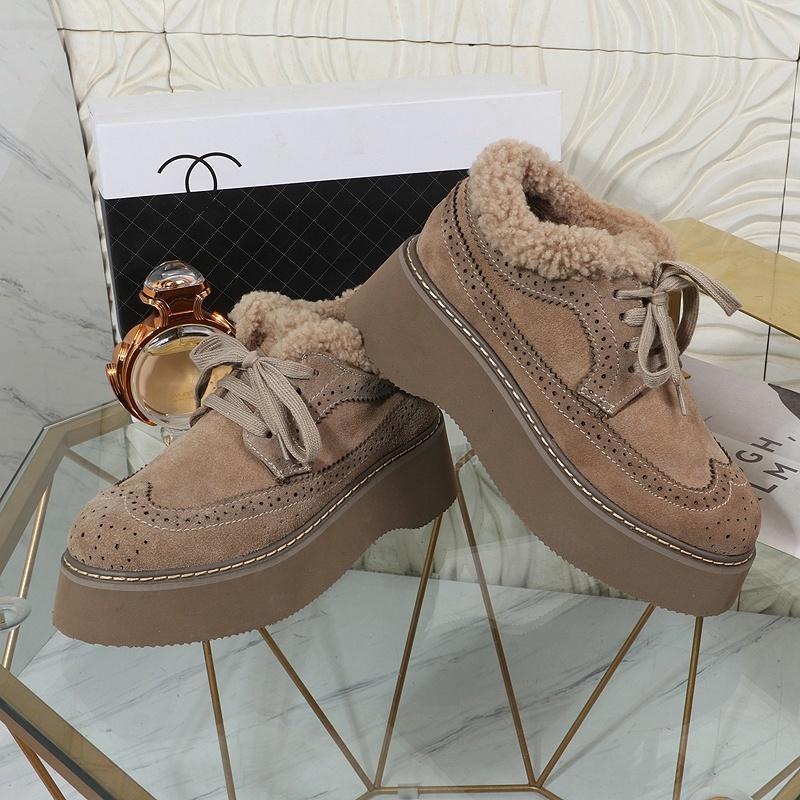 2021A nuove donne di modo '; s Shoes più velluto casuali di sport per tenere in caldo, personalità selvaggia autunno e in inverno alta -Top pattini di marea scarpe