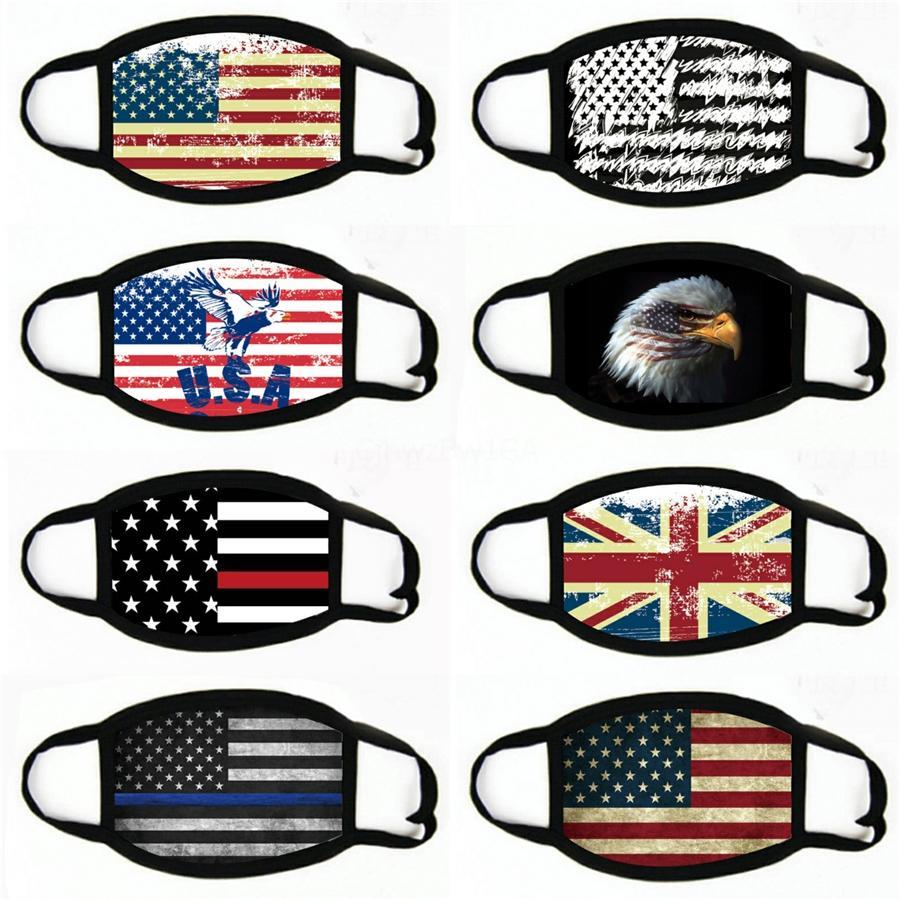 Hot American amerikanische Flagge Maske Druck Männer und Frauen Schal Gesicht Maskdust Proof Riding Maske Festliche Partei-Schablonen # 186