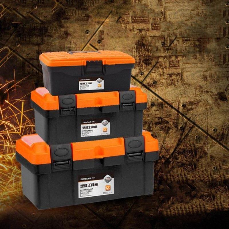 """Große Toolbox Haushalts Wartung Elektriker Werkzeugkasten Multifunktions ABS Hardware Auto-Reparatur-Anti-fallen Box 12"""" 14 17 20"""" Hn6H #"""