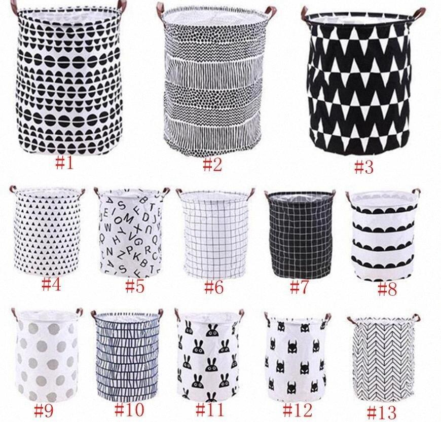 Depolama Kovalar Kutuları Çocuk Oyuncak Sepeti Çanta Organizatör Çamaşır Çanta El Tuval Çantası Çamaşır Büyük Depolama Totes 7Stq # Elbiseler