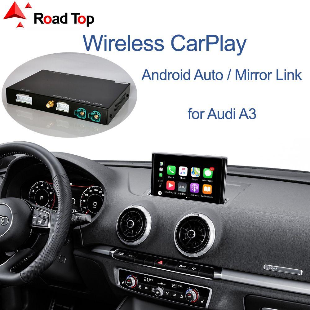 Wireless Apple, CarPlay Android Auto интерфейс для Audi A3 2013-2018, с зеркалом Link Функции Play AirPlay Car