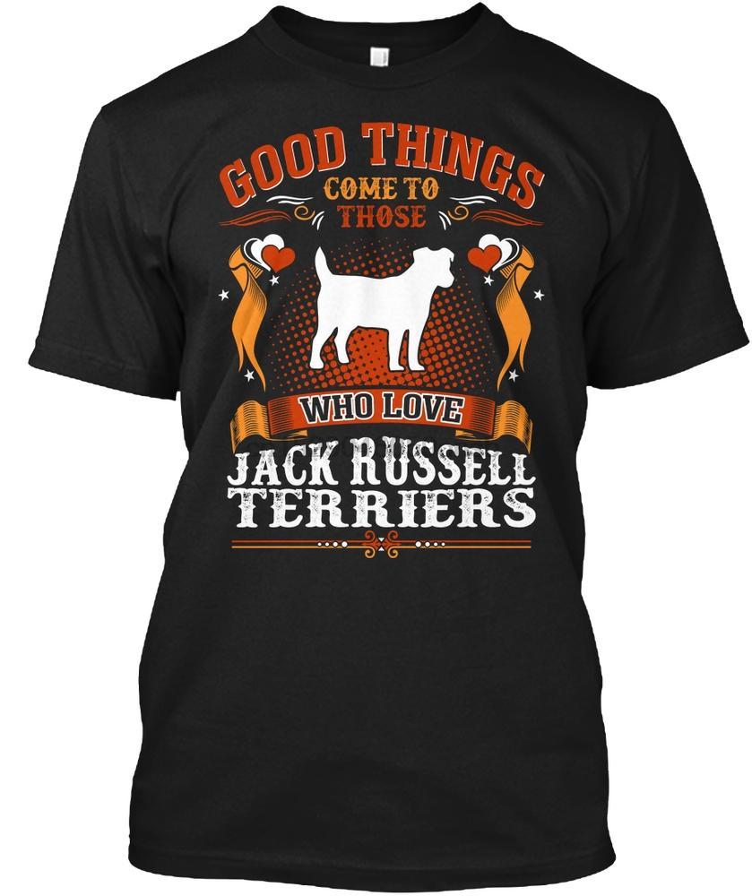 Homens Camiseta boas coisas vêm Jack Russell Terrier Mulheres tshirt