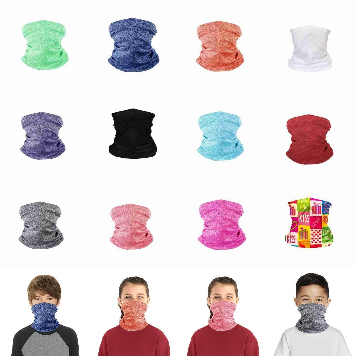 Riding Face Outdoor Face Kids Mask Mask Cycling Magic Turban Headband Bandanas Scarf Children Fitness CYZ2654 Supplies Masks Protective Rkjn