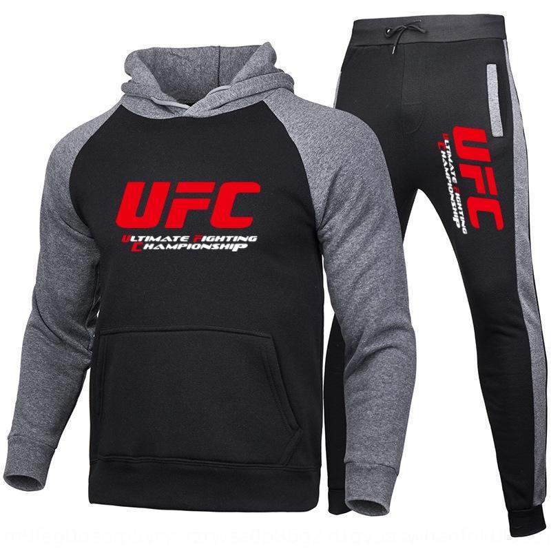 86Pxi Casual sweat à capuche costume MMA Sport UFC en deux parties et à l'automne des femmes et sweat à capuche en laine polaire hiver costume hommes