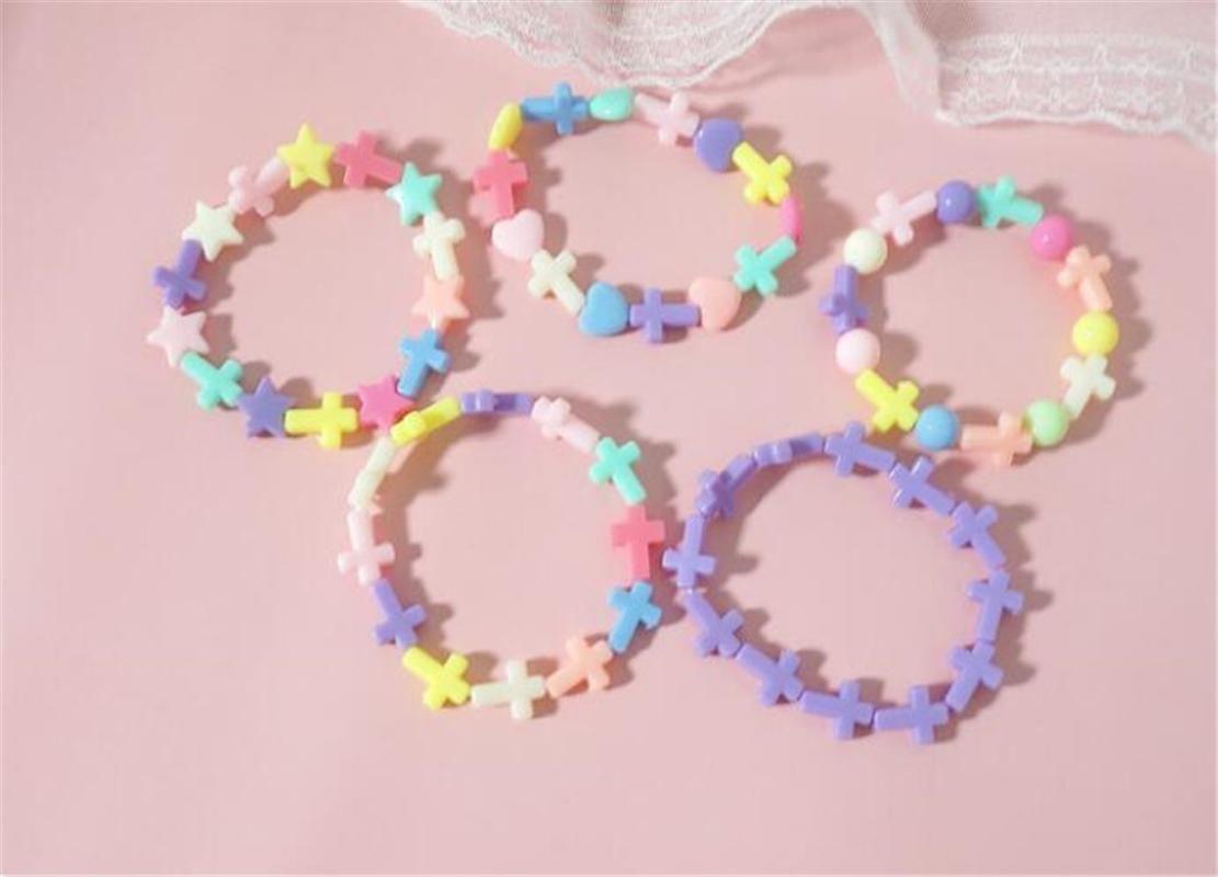 Лолита девушка цвета конфеты Star Cross Форма Браслет Лолита бисер браслет девушка женщины ювелирные изделия B1474