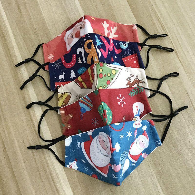Maske Adjustable Cartoon mit Innentasche und PM2.5-Filter für staubdichte nette Kinder Weihnachten Masken Kinder Baby Gesichtsschutz frei DHL