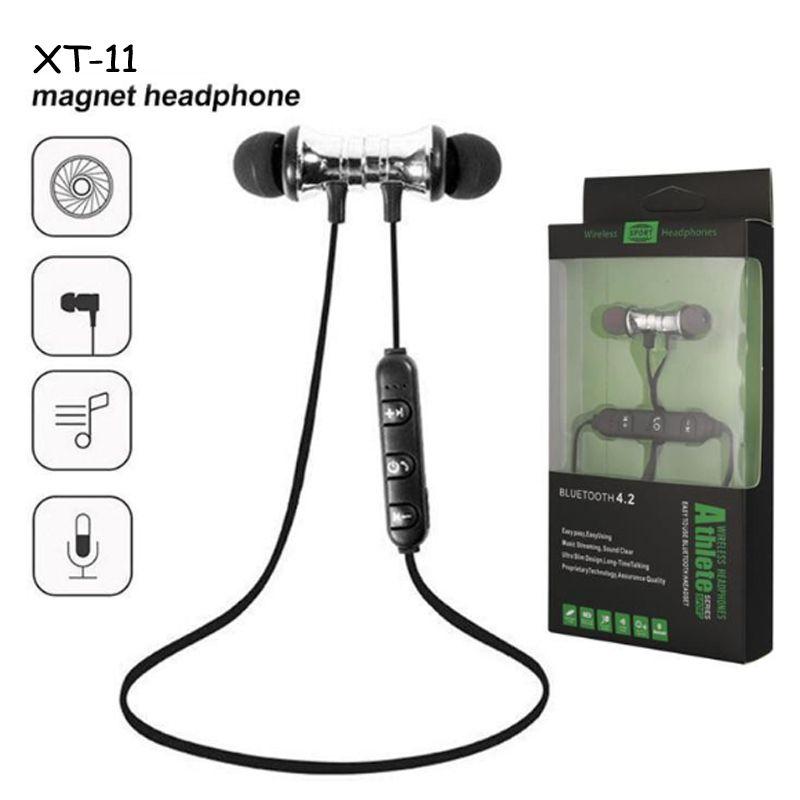 TWS Magnetic Wireless Bluetooth Écouteur Bluetooth XT11 Musique Casque de téléphone Neck bandeau Sport Earbuds avec MIC pour iPhone Samsung Xiaomi