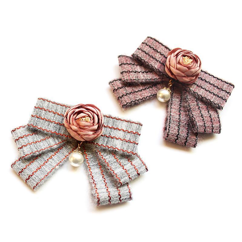 Collar de visita de la flor del desgaste del uniforme escolar de la camisa Accesorios Pajarita JK Uniforme de la moda lazo de las mujeres de Estudiantes de Bowtie 11 * 8cm