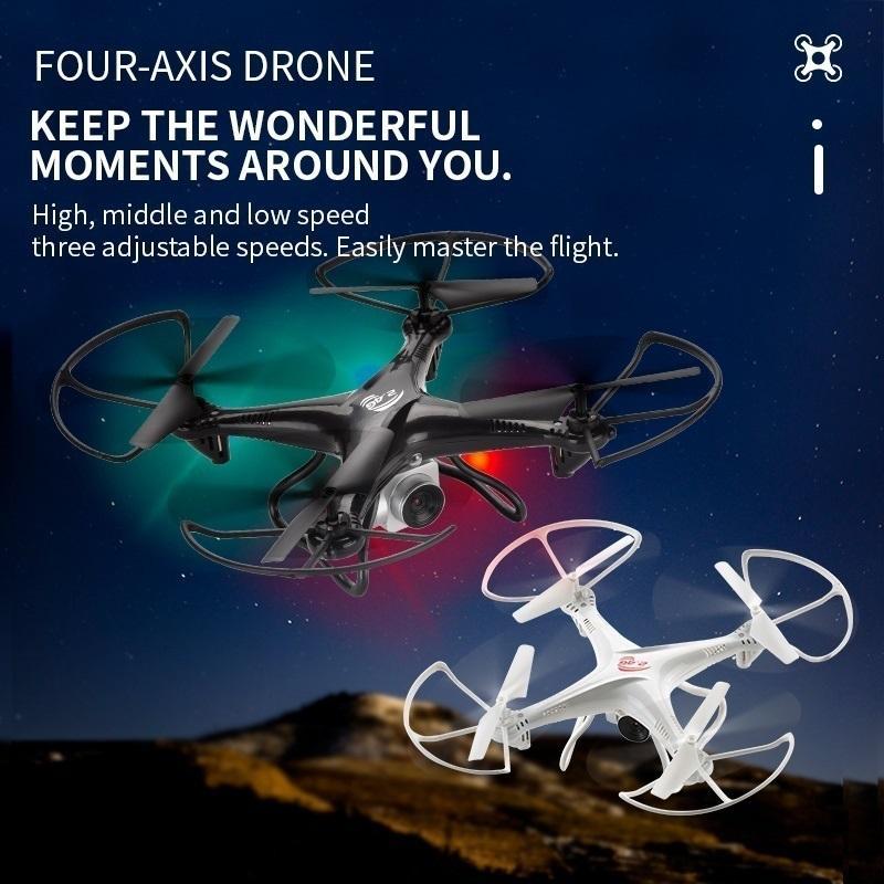 RC Drone Четыре оси Дрон дистанционного управления дистанционным управлением самолетом с HD-камерой Детские веселые игрушки Пульт дистанционного управления UAV 03
