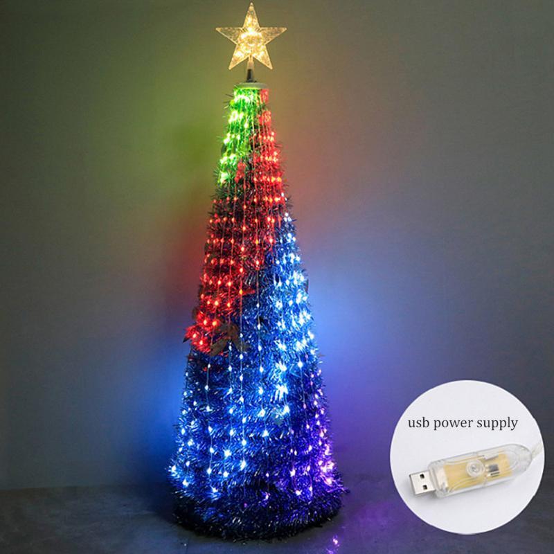 Decorazione albero di Natale artificiale 1.8M per la casa con luci LED Big Pine Xmas Tree Capodanno Home Decor Albero di Natale