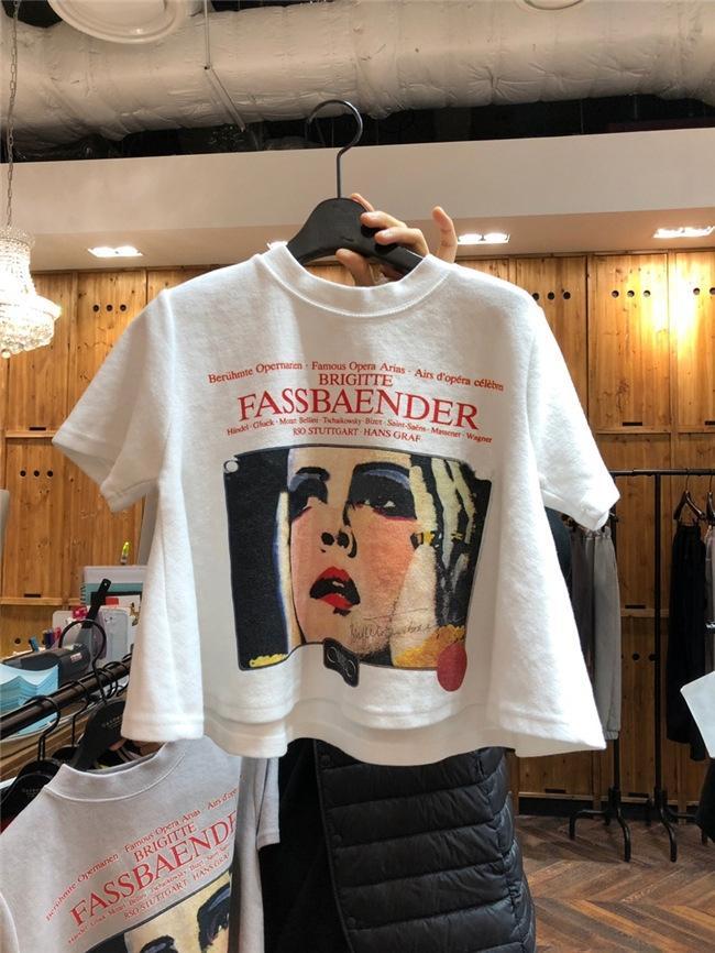 rX2Un a maniche corte delle donne T-shirt cappotto estate della maglietta superiore 2020 nuova breve allentato bianco lettera top studente stampati di grandi dimensioni moda femminile