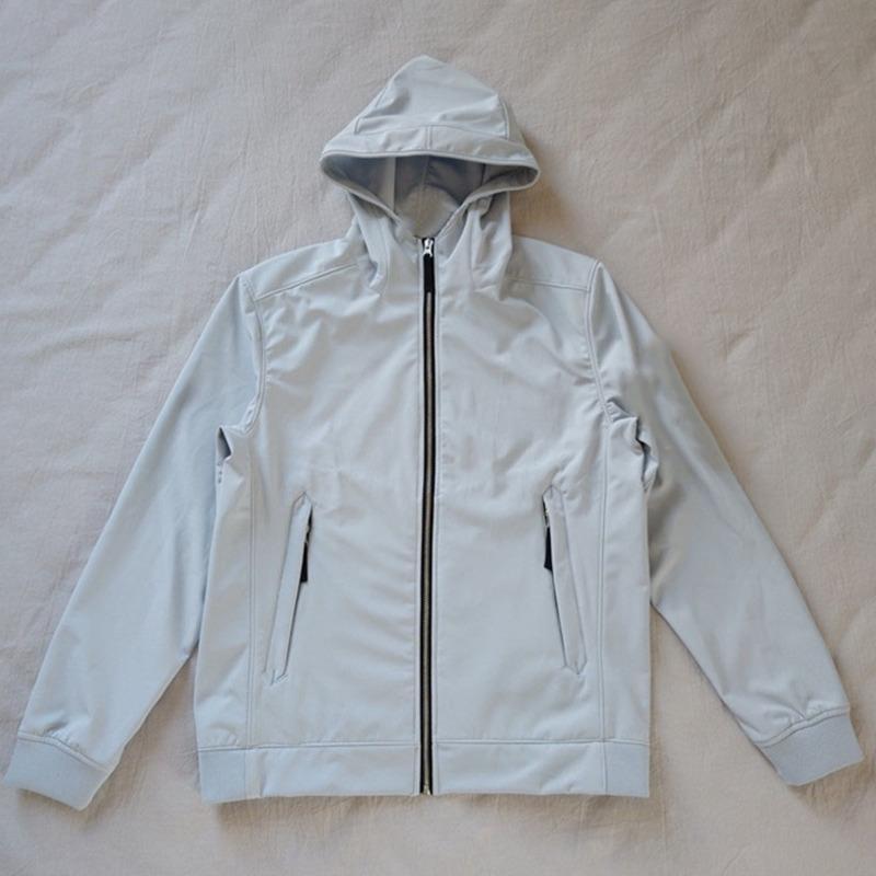20SS 40927 ضوء الأوروبي لينة شل-R سترة الأزياء مقنع كاب التطريز نمط معطف زوج المرأة الرجال عالية الجودة الستر HFXHJK122
