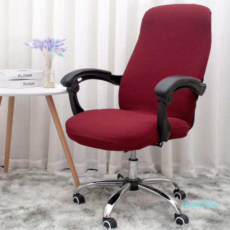 Plaid Thickened Waterproof Rotating Office Computer Chair Cover Flexible Conjoined Armrest Seat Chair Cover funda silla oficina