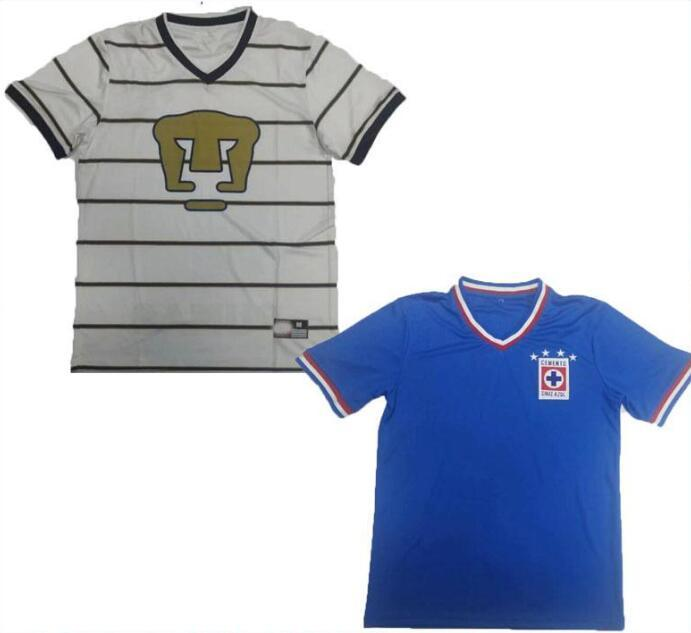 1974 1997 UNAM Cruz Azul retro soccer jersey maillot de foot 74 97 miga mx camiseta de fútbol football shirts Uniforms thailand quality
