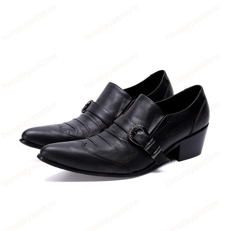 Мужской натуральная кожа Формальные партии обувь Твердые Simplicity Мужская обувь Британский Стиль Пряжка Мужчины мода обувь